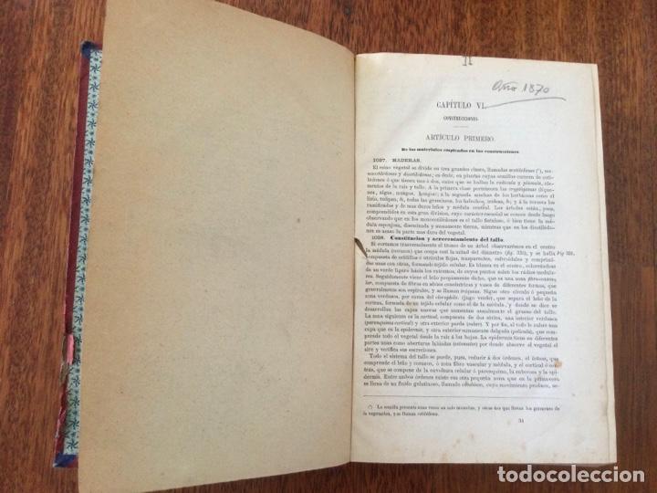 Libros antiguos: Manual del ingeniero y arquitecto. 1870. Nicolás Valdés. Tomo 2 - Foto 2 - 284745768