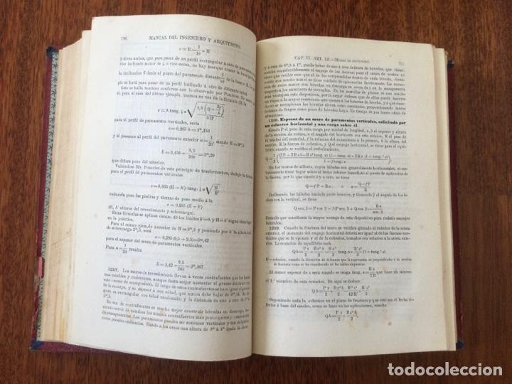 Libros antiguos: Manual del ingeniero y arquitecto. 1870. Nicolás Valdés. Tomo 2 - Foto 3 - 284745768