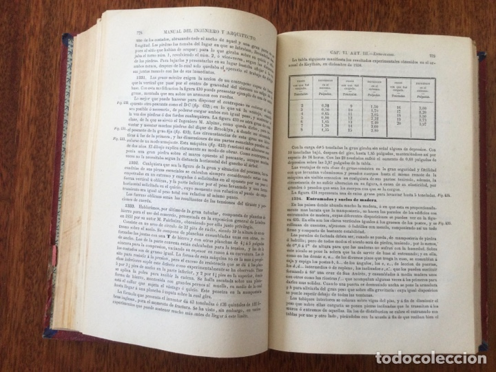 Libros antiguos: Manual del ingeniero y arquitecto. 1870. Nicolás Valdés. Tomo 2 - Foto 4 - 284745768