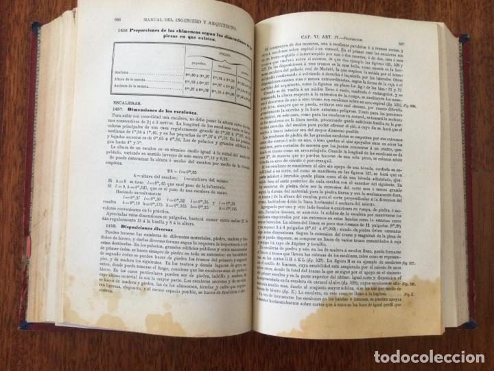 Libros antiguos: Manual del ingeniero y arquitecto. 1870. Nicolás Valdés. Tomo 2 - Foto 5 - 284745768