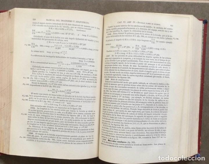 Libros antiguos: Manual del ingeniero y arquitecto. 1870. Nicolás Valdés. Tomo 2 - Foto 11 - 284745768
