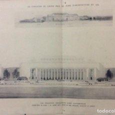 Libros antiguos: LE CONCOURS DU GRAND PRIX DE ROME EN 1934... SECTION D´ARCHITECT. Lote 287611158