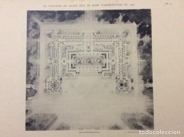 Libros antiguos: Le concours du grand prix de Rome en 1934... Section d´Architect - Foto 5 - 287611158