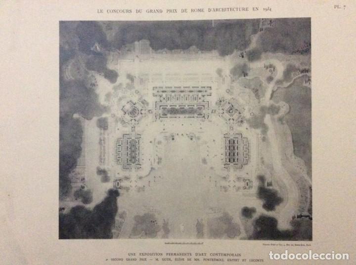 Libros antiguos: Le concours du grand prix de Rome en 1934... Section d´Architect - Foto 6 - 287611158