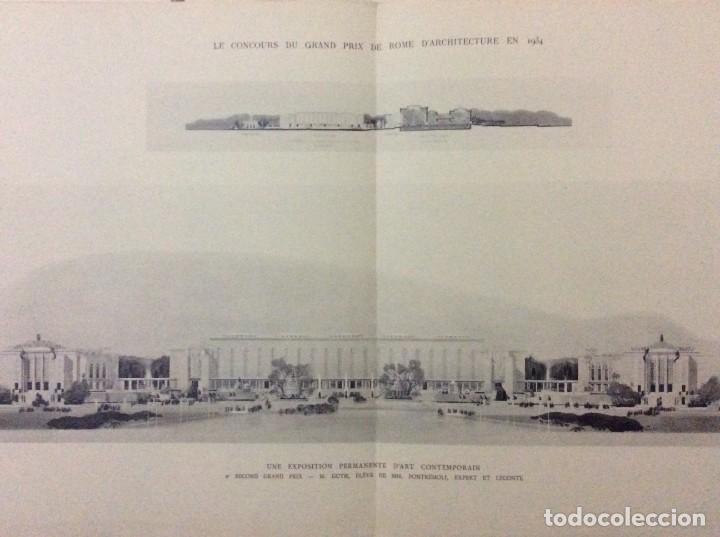 Libros antiguos: Le concours du grand prix de Rome en 1934... Section d´Architect - Foto 7 - 287611158