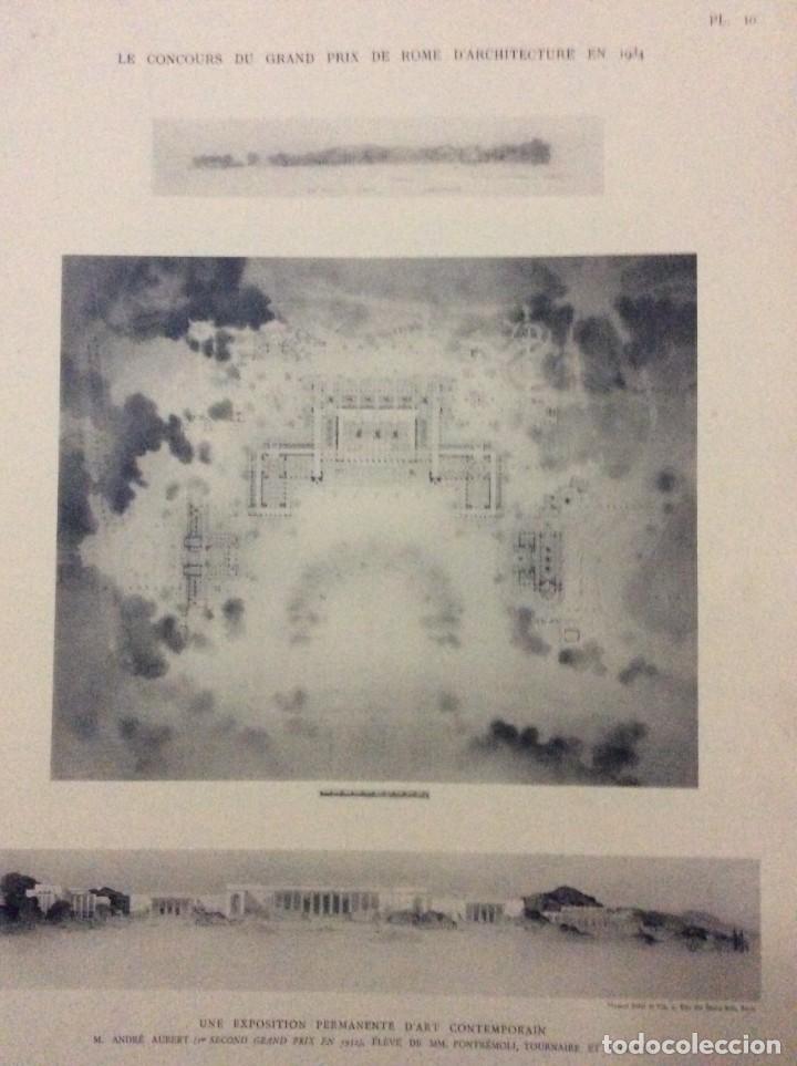 Libros antiguos: Le concours du grand prix de Rome en 1934... Section d´Architect - Foto 8 - 287611158