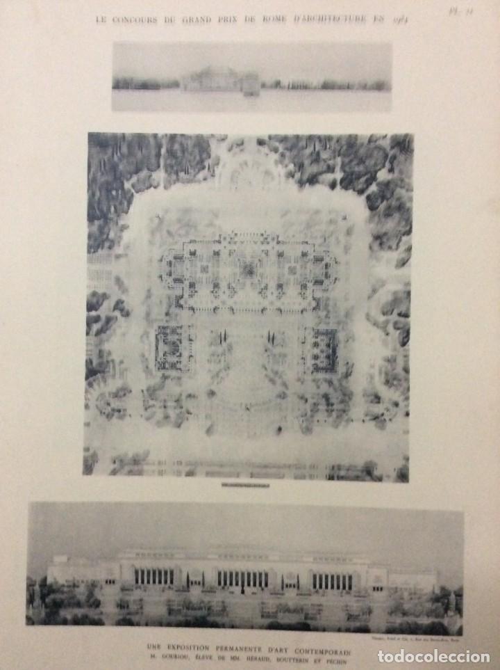 Libros antiguos: Le concours du grand prix de Rome en 1934... Section d´Architect - Foto 9 - 287611158