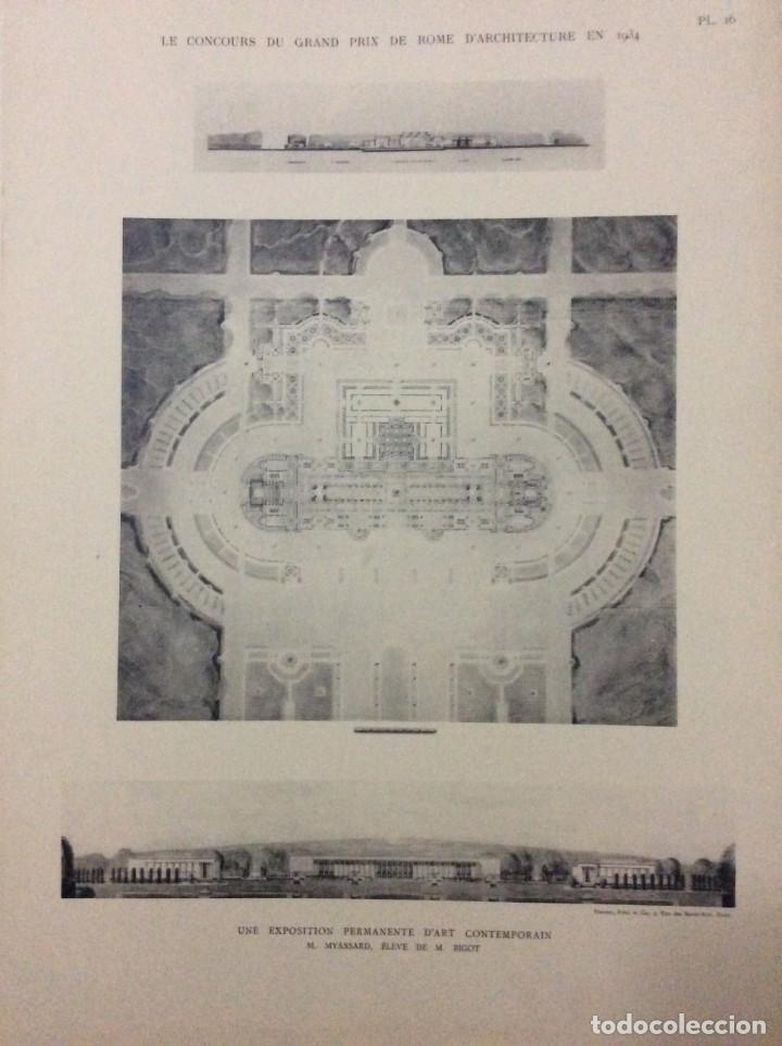 Libros antiguos: Le concours du grand prix de Rome en 1934... Section d´Architect - Foto 10 - 287611158