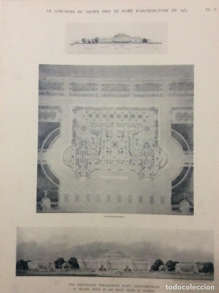 Libros antiguos: Le concours du grand prix de Rome en 1934... Section d´Architect - Foto 11 - 287611158