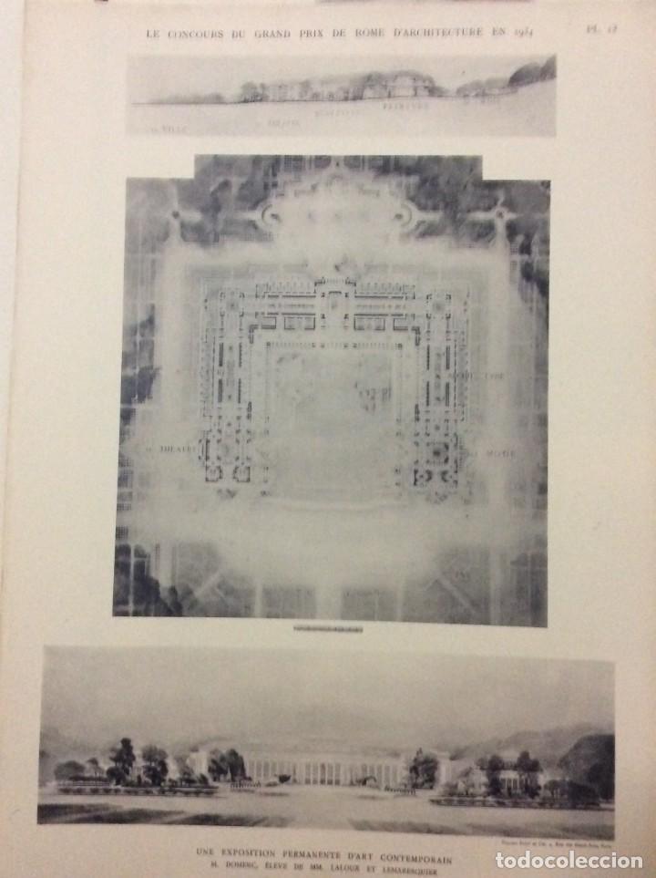 Libros antiguos: Le concours du grand prix de Rome en 1934... Section d´Architect - Foto 13 - 287611158
