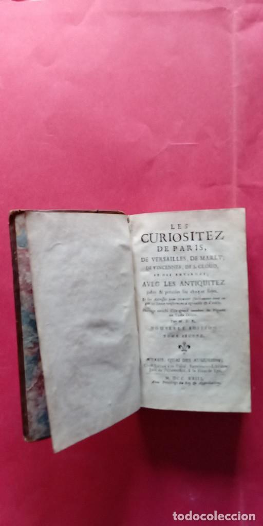 Libros antiguos: M.L.R.-LAS CURIOSIDADES DE PARIS.-VERSALLES.-MARLY.-TOMO SEGUNDO.-ARTE.-GRABADOS.-PARIS.-AÑO 1723. - Foto 2 - 287747883