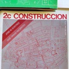 Libros antiguos: 2C CONSTRUCCION DE LA CIUDAD ANALISIS URBANO CASCO ANTIGUO DE VITORIA BARRIO DE LA RIBERA EN BARCELO. Lote 287806403