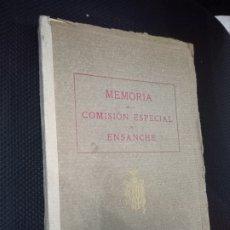 Libros antiguos: MEMORIA DE LA COMISION ESPECIAL DE ENSANCHE. RIO DEL VAL, R. DEL. AYUNTAMIENTO DE BARCELONA, 1927. Lote 292535883