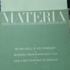 Libros antiguos: MATERIA Nº 2. RESSEGNA TECNICA DI ... (REVISTA DE ARQUITECTURA). TEXTO EN ITALIANO E INGLES. Lote 293554538