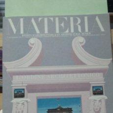 Libros antiguos: MATERIA Nº 4. RESSEGNA TECNICA DI ... (REVISTA DE ARQUITECTURA). TEXTO EN ITALIANO E INGLES. Lote 293564338