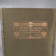 Libros antiguos: 120 INTERIEURS MODERNES EN COLEUR. LIBRAIRIE D'ARCHITECTURE.. Lote 295723178