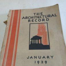 Libros antiguos: THE ARCHITECTURAL RECORD. JANUARY 1929 REVISTA DE ARQUITECTURA PUBLICADA EN NUEVA YORK. Lote 297254093