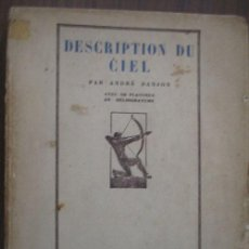 Libros antiguos: DESCRIPTION DU CIEL. DANJON, ANDRÉ. 1926. . Lote 20738862