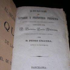 Libros antiguos: GERONIMO CORTES- EL NOM PLUS ULTRA DEL LUNARIO Y PRONOSTICO PERPETUO GENERAL Y PARTICULAR PARA CADA . Lote 24446551