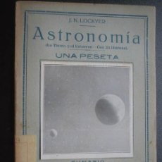 Libros antiguos: ASTRONOMÍA. LOCKYER, J.N. PEQUEÑA ENCICLOPEDIA PRÁCTICA. Lote 24446388