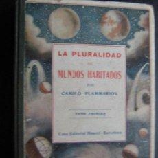 Libros antiguos: LA PLURALIDAD DE LOS MUNDOS HABITADOS (TOMO 1º). FLAMMARION, CAMILO. MAUCCI. Lote 28421695