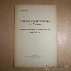 Libros antiguos: LIBRO CUADERNO NUEVAS OBSERVACIONES DE VENUS - AÑO 1898 - E. FONTSERÉ. Lote 31877469