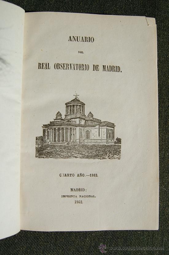 Libros antiguos: ANUARIO DEL REAL OBSERVATORIO DE MADRID - Foto 3 - 34023508