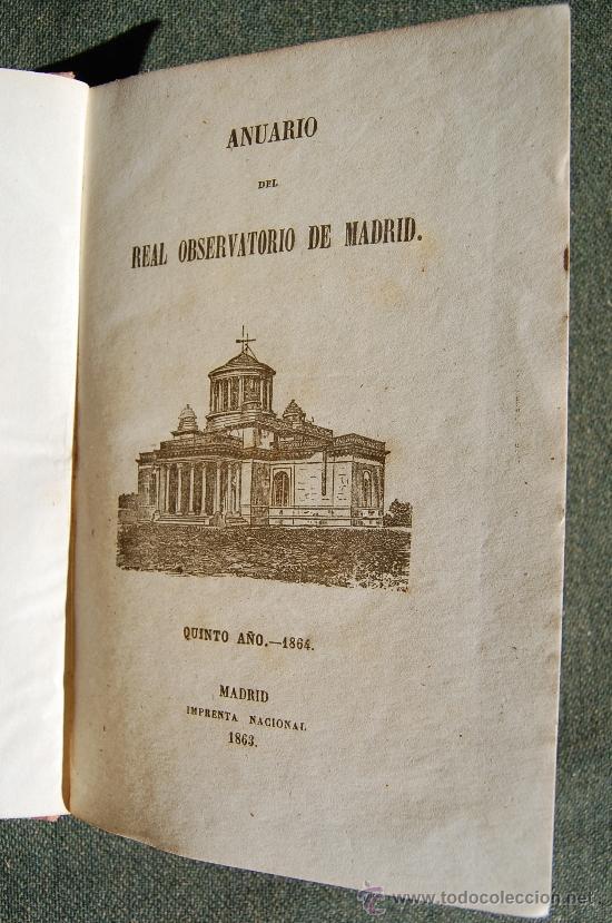 Libros antiguos: ANUARIO DEL REAL OBSERVATORIO DE MADRID - Foto 5 - 34023508