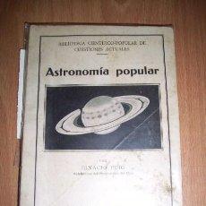 Libros antiguos: PUIG, ANTONIO - ASTRONOMÍA POPULAR. Lote 34222469