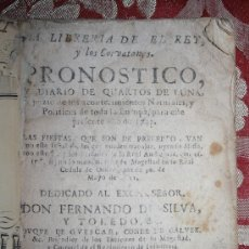 Libros antiguos: LP-025 - PRONOSTICO Y DIARIO DE QUARTOS DE LUNA. PISCATOR DE SALAMANCA.1742.. Lote 35092819