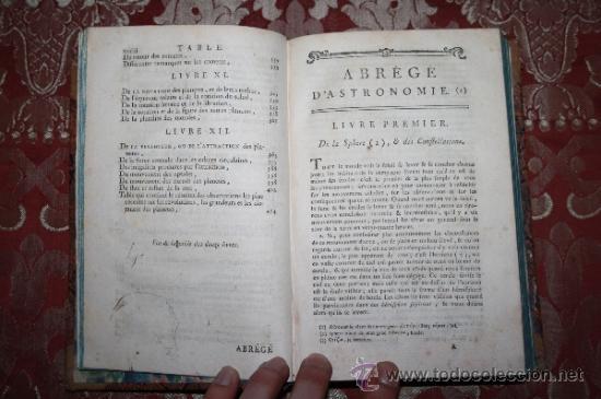 Libros antiguos: 5900 - ABRÉGÉ DASTRONOMIE. JÉROME LALANDE. PARIS CHEZ FIRMIN DIDOT - 1795 - Foto 2 - 35127410