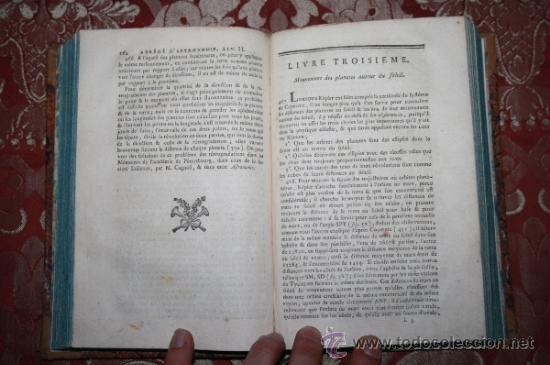 Libros antiguos: 5900 - ABRÉGÉ DASTRONOMIE. JÉROME LALANDE. PARIS CHEZ FIRMIN DIDOT - 1795 - Foto 4 - 35127410