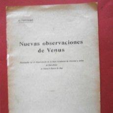 Libros antiguos: NUEVAS OBSERVACIONES DE VENUS. E. FONTSERÉ. Lote 38022570