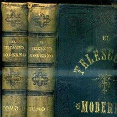 Libros antiguos: EL TELESCOPIO MODERNO - DOS TOMOS GRAN FORMATO. (MONTANER Y SIMÓN, 1878). Lote 40263223
