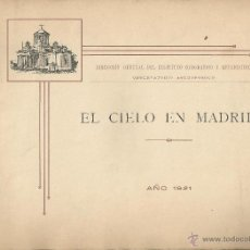 Libros antiguos: 1921 - ATLAS CELESTE 8 MAPAS DEL FIRMAMENTO FOTOGRAFÍA DEL SOL Y 3 DE LA LUNA. Lote 42541982