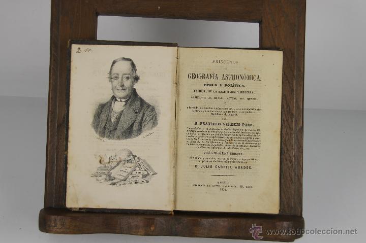 4602- PRINCIPIOS DE GEOGRAFIA ASTRONOMICA. FRANCISCO VERDEJO. IMP. LOPEZ CAVA. 1874. (Libros Antiguos, Raros y Curiosos - Ciencias, Manuales y Oficios - Astronomía)