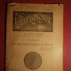 Libros antiguos: BULLETIN SOCIETÉ ASTRONÓMIQUE DE FRANCE - OCTUBRE 1921 - BOLETÍN DE LA SOCIEDAD ASTRONÓMICA 25 X 16 . Lote 43504722