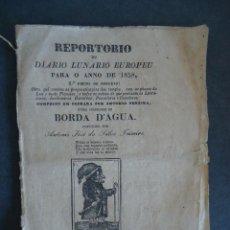Libros antiguos: PORTUGAL.PORTO.'REPORTORIO OU DIARIO LUNARIO EUROPEU PARA O ANNO DE 1858'. Lote 43759816