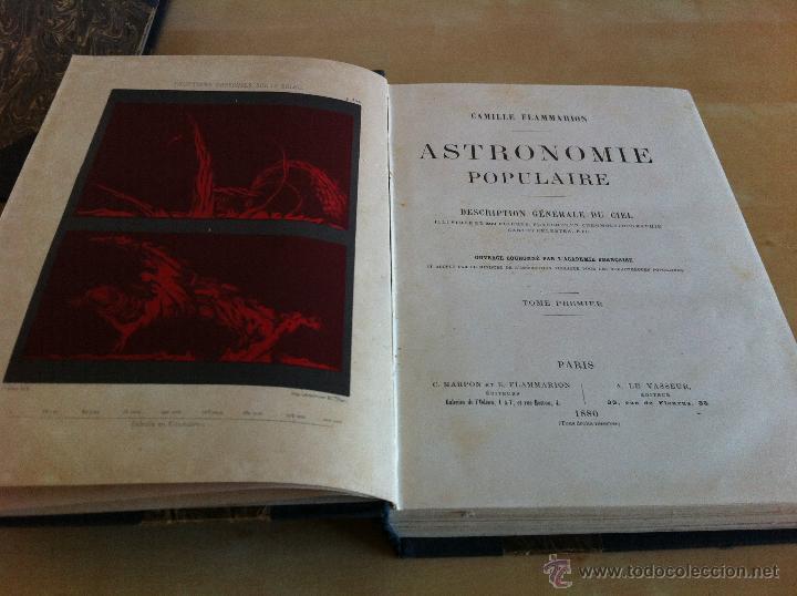 Libros antiguos: ASTRONOMIE POPULAIRE. TOMOS I Y II. CAMILLE FLAMMARION. A.LE VASSEUR EDITEUR. AÑO 1880. ILUSTRADO. - Foto 9 - 44980460