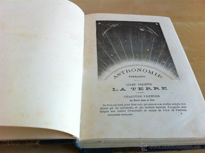 Libros antiguos: ASTRONOMIE POPULAIRE. TOMOS I Y II. CAMILLE FLAMMARION. A.LE VASSEUR EDITEUR. AÑO 1880. ILUSTRADO. - Foto 14 - 44980460