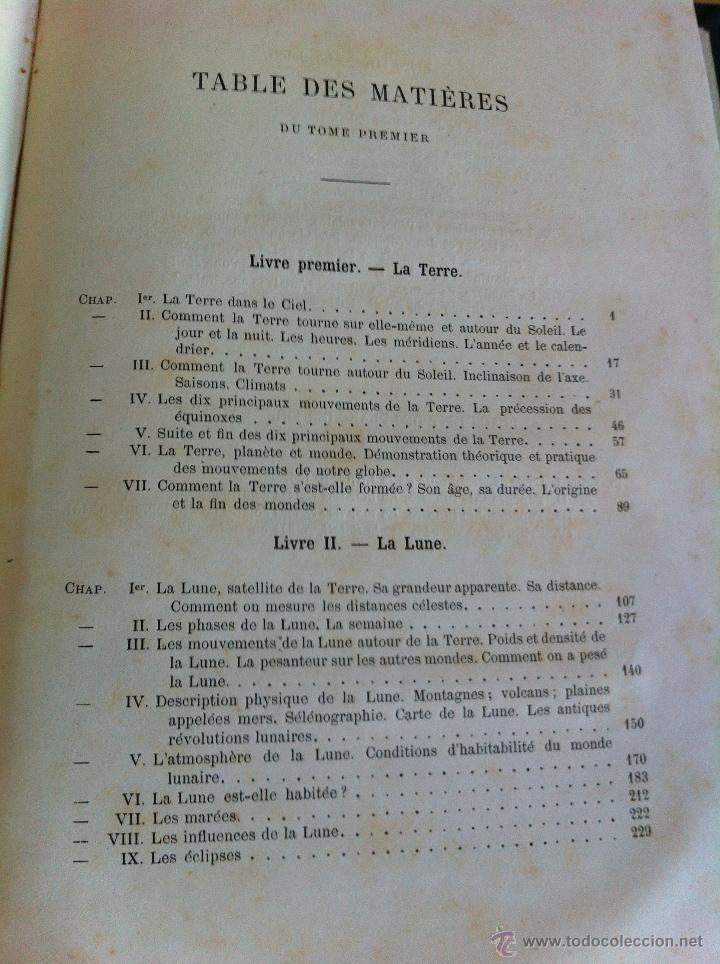 Libros antiguos: ASTRONOMIE POPULAIRE. TOMOS I Y II. CAMILLE FLAMMARION. A.LE VASSEUR EDITEUR. AÑO 1880. ILUSTRADO. - Foto 24 - 44980460