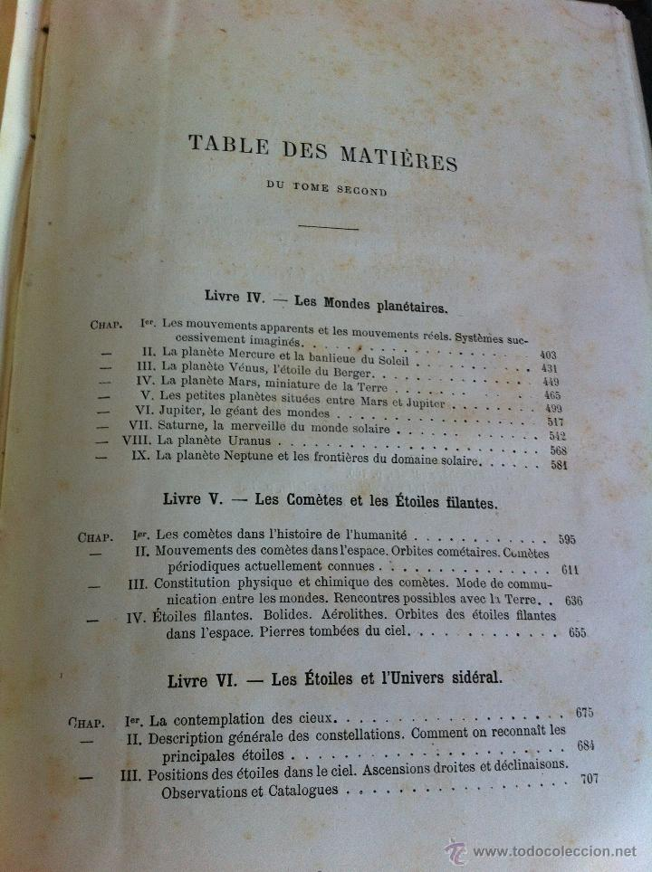 Libros antiguos: ASTRONOMIE POPULAIRE. TOMOS I Y II. CAMILLE FLAMMARION. A.LE VASSEUR EDITEUR. AÑO 1880. ILUSTRADO. - Foto 49 - 44980460