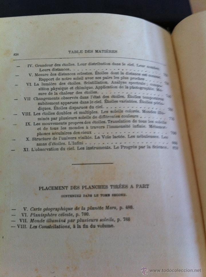 Libros antiguos: ASTRONOMIE POPULAIRE. TOMOS I Y II. CAMILLE FLAMMARION. A.LE VASSEUR EDITEUR. AÑO 1880. ILUSTRADO. - Foto 50 - 44980460