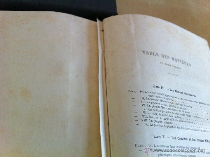 Libros antiguos: ASTRONOMIE POPULAIRE. TOMOS I Y II. CAMILLE FLAMMARION. A.LE VASSEUR EDITEUR. AÑO 1880. ILUSTRADO. - Foto 51 - 44980460