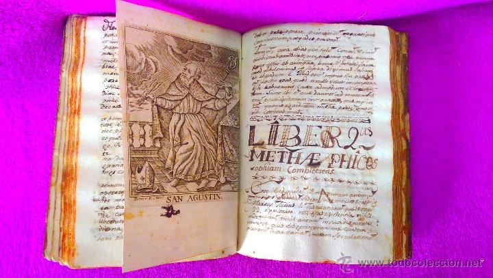 Libros antiguos: 2 VOL, MANUSCRITO ORIGINAL DE ASTRONOMIA, SPHAERA, METAFISICA Y FILOSOFIA 1790 - Foto 3 - 47231119
