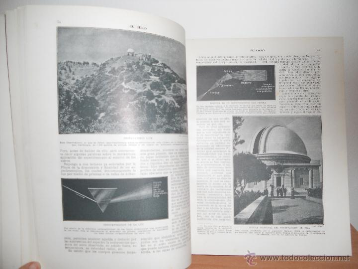 Libros antiguos: EL CIELO.- D.JOSE COMAS SOLÁ - Foto 3 - 47581756