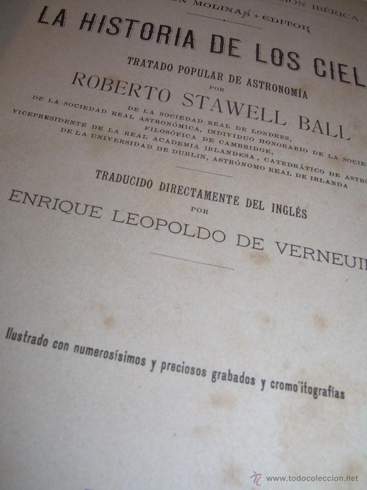 Libros antiguos: LA HISTORIA DE LOS CIELOS....TRATADO DE ASTRONOMIA.....CON NUMEROSISIMOS GRABADOS Y CROMOLITOGRAFIAS - Foto 3 - 48687161