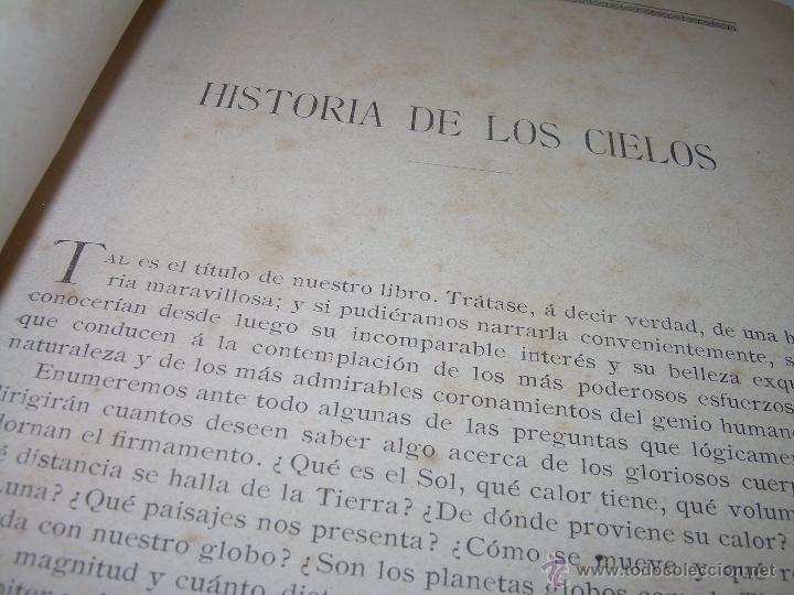 Libros antiguos: LA HISTORIA DE LOS CIELOS....TRATADO DE ASTRONOMIA.....CON NUMEROSISIMOS GRABADOS Y CROMOLITOGRAFIAS - Foto 4 - 48687161