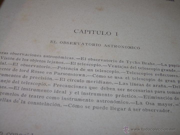 Libros antiguos: LA HISTORIA DE LOS CIELOS....TRATADO DE ASTRONOMIA.....CON NUMEROSISIMOS GRABADOS Y CROMOLITOGRAFIAS - Foto 5 - 48687161