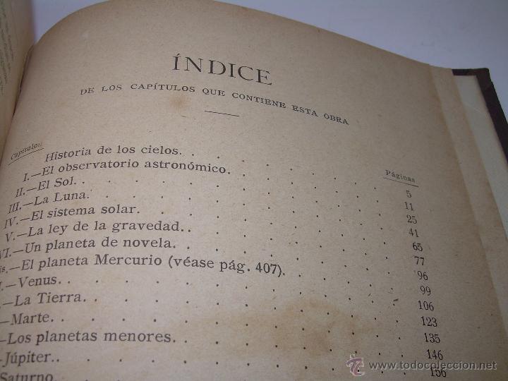 Libros antiguos: LA HISTORIA DE LOS CIELOS....TRATADO DE ASTRONOMIA.....CON NUMEROSISIMOS GRABADOS Y CROMOLITOGRAFIAS - Foto 12 - 48687161